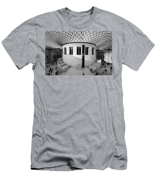 Men's T-Shirt (Slim Fit) featuring the photograph British Museum Black And White by Matt Malloy