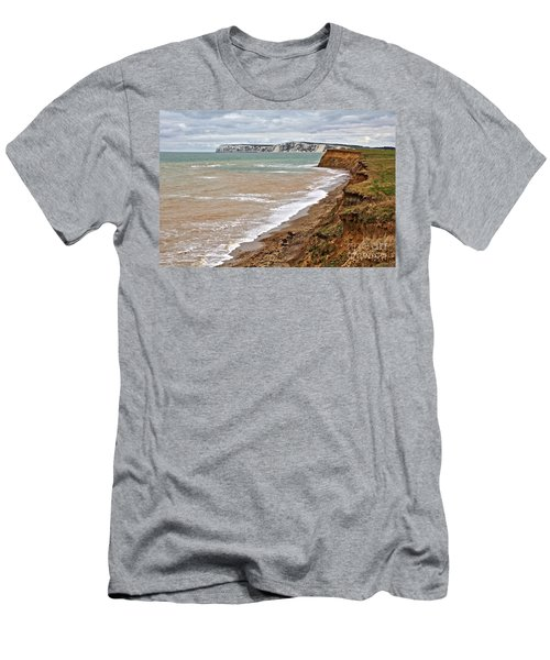 Brook Bay And Chalk Cliffs Men's T-Shirt (Athletic Fit)