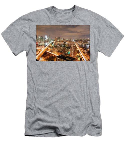 Brooklyn And Manhattan Bridge Men's T-Shirt (Athletic Fit)