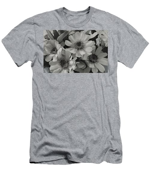 Men's T-Shirt (Slim Fit) featuring the photograph Brown Eyed Susan Monochrome by Sandra Foster