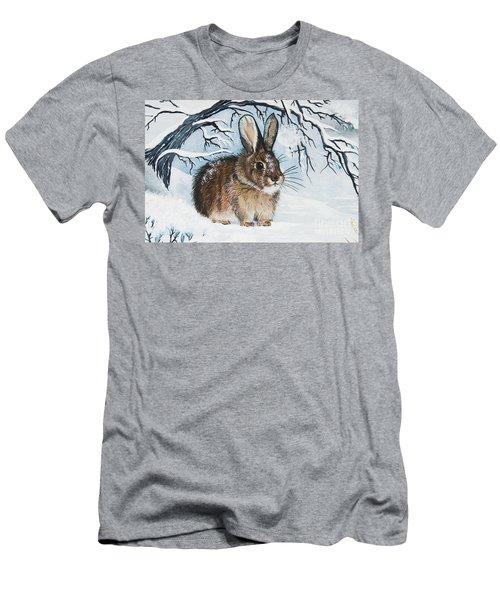 Brrrr Bunny Men's T-Shirt (Athletic Fit)