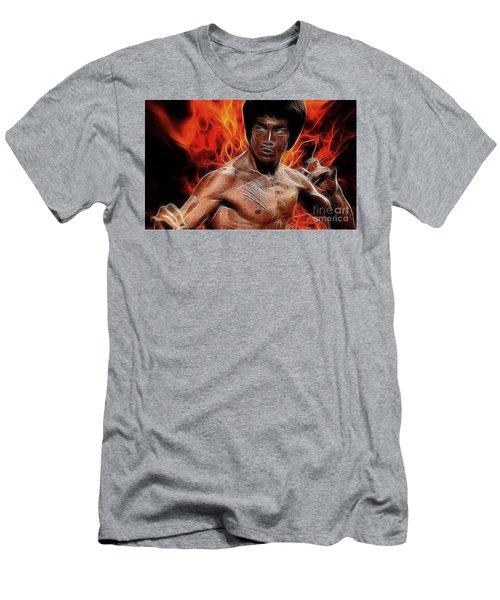 Bruce Lee Men's T-Shirt (Slim Fit) by Doc Braham