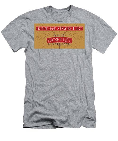 Bucket List Men's T-Shirt (Athletic Fit)