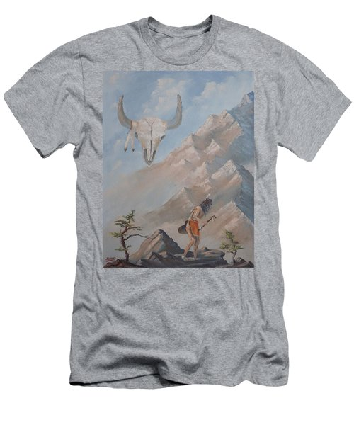 Men's T-Shirt (Slim Fit) featuring the painting Buffalo Dancer by Richard Faulkner