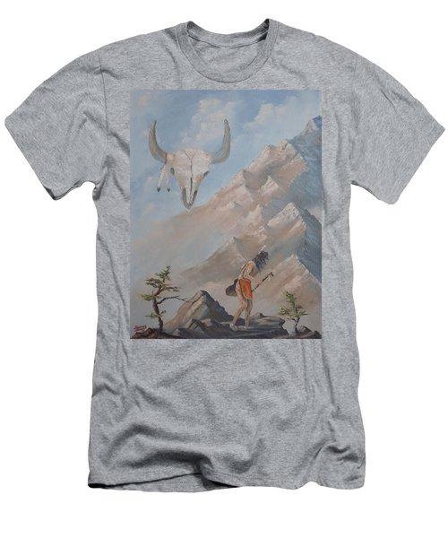Buffalo Dancer Men's T-Shirt (Slim Fit) by Richard Faulkner