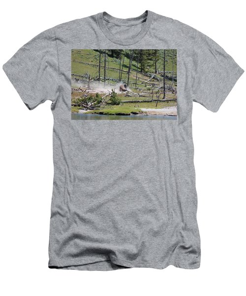 Buffalo Dust Bath Men's T-Shirt (Athletic Fit)