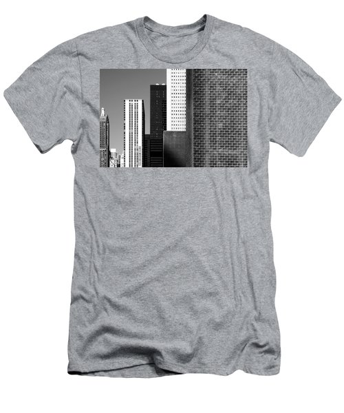 Building Blocks Black White Men's T-Shirt (Athletic Fit)