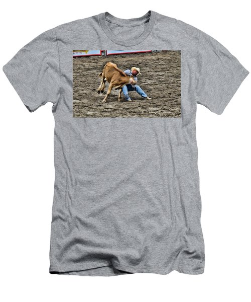 Bull Dogging Men's T-Shirt (Athletic Fit)