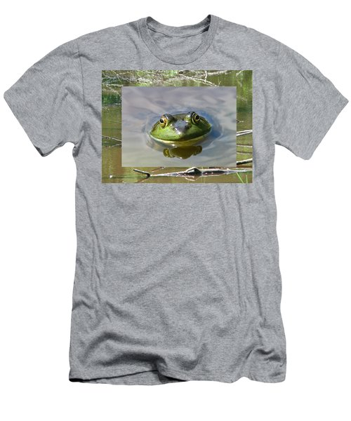 Bull Frog And Pond Men's T-Shirt (Athletic Fit)