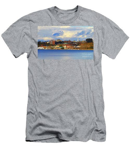 Burlington Vermont Lakefront Men's T-Shirt (Athletic Fit)