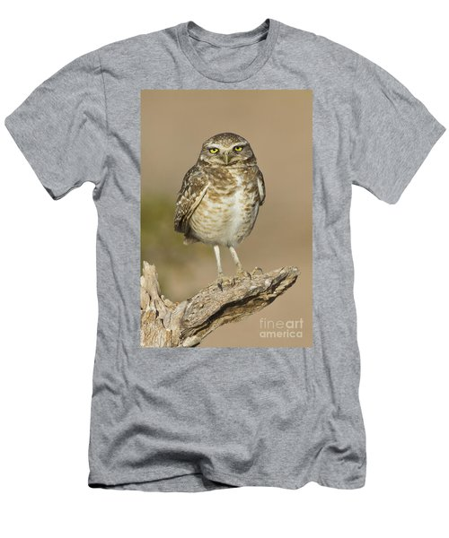 Men's T-Shirt (Slim Fit) featuring the photograph Burrowing Owl by Bryan Keil