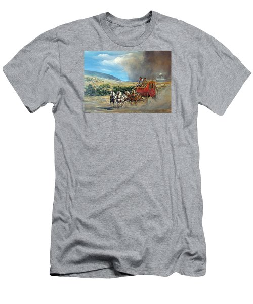 Men's T-Shirt (Slim Fit) featuring the painting Business As Usual by Donna Tucker