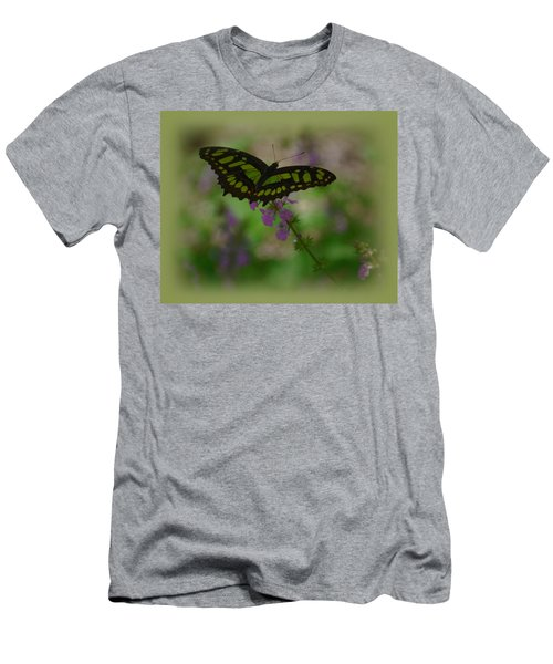 Men's T-Shirt (Slim Fit) featuring the photograph Butterfly 4 by Leticia Latocki