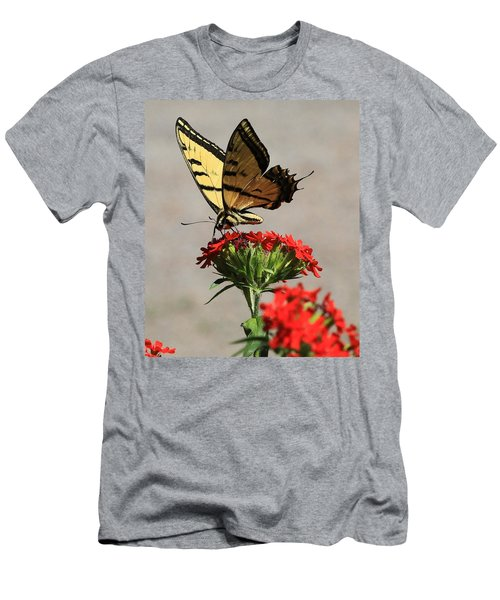 Butterfly And Maltese Cross 1 Men's T-Shirt (Slim Fit) by Aaron Aldrich
