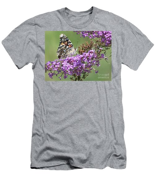Men's T-Shirt (Slim Fit) featuring the photograph Painted Lady Butterfly by Eunice Miller