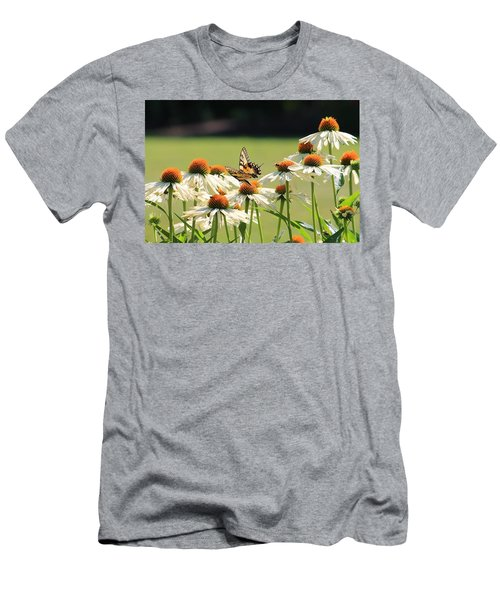 Butterfly On Echinacea Men's T-Shirt (Athletic Fit)