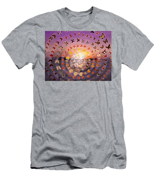 Butterfly Sunset Men's T-Shirt (Athletic Fit)