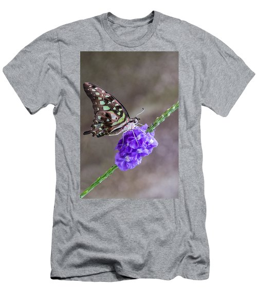 Butterfly - Tailed Jay I Men's T-Shirt (Athletic Fit)