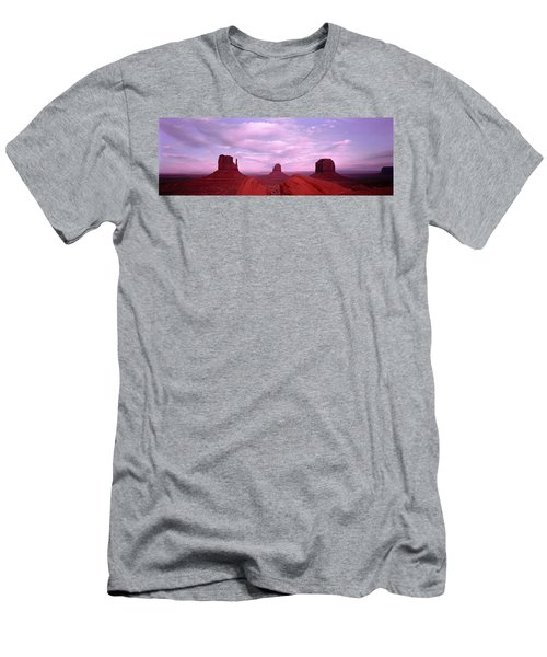 Buttes At Sunset, The Mittens, Merrick Men's T-Shirt (Athletic Fit)