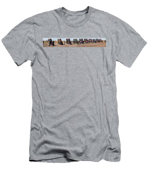 Cadillac Ranch Horizon Men's T-Shirt (Athletic Fit)