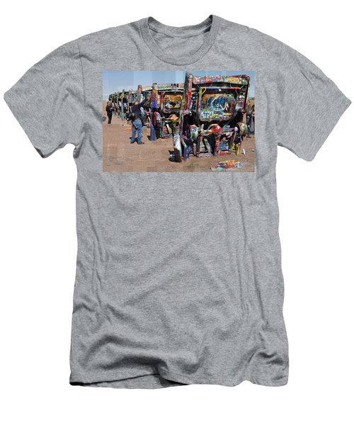 Cadillac Ranch Oblique Men's T-Shirt (Athletic Fit)