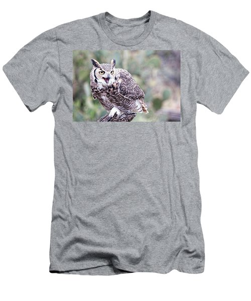 Men's T-Shirt (Slim Fit) featuring the photograph Call Of The Owl by Dan McManus