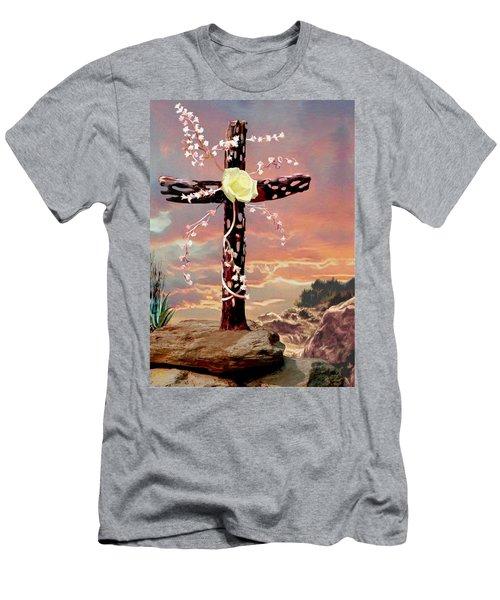 Calvary Cross Men's T-Shirt (Slim Fit) by Ron Chambers