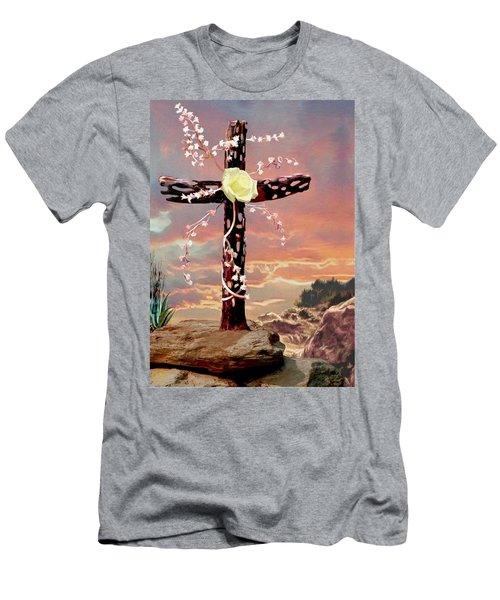 Calvary Cross Men's T-Shirt (Athletic Fit)