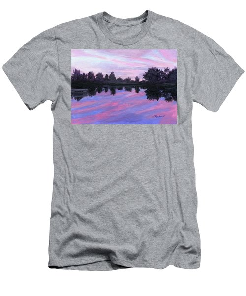 Men's T-Shirt (Slim Fit) featuring the painting Camp Sunset by Lynne Reichhart