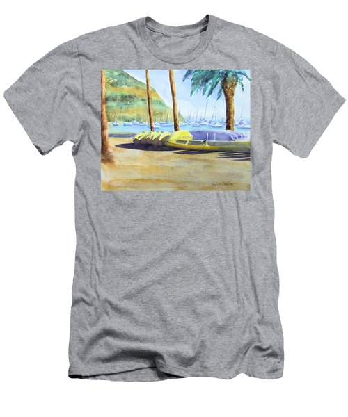 Canoes And Surfboards In The Morning Light - Catalina Men's T-Shirt (Athletic Fit)