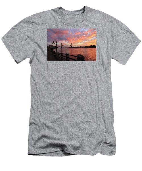 Cape Fear Bridge Men's T-Shirt (Slim Fit) by Cynthia Guinn