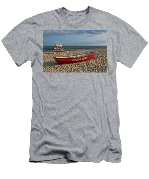 Cape May N J Rescue Boat Men's T-Shirt (Athletic Fit)