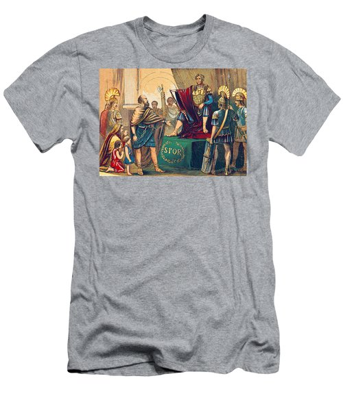Men's T-Shirt (Slim Fit) featuring the photograph Caractacus Before Emperor Claudius, 1st by British Library