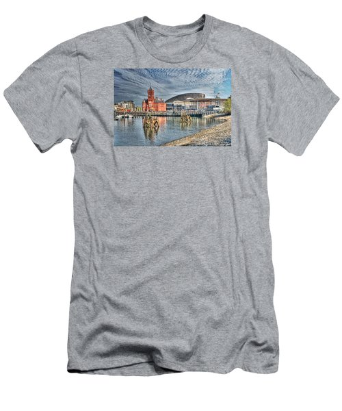Cardiff Bay Textured Men's T-Shirt (Slim Fit) by Steve Purnell