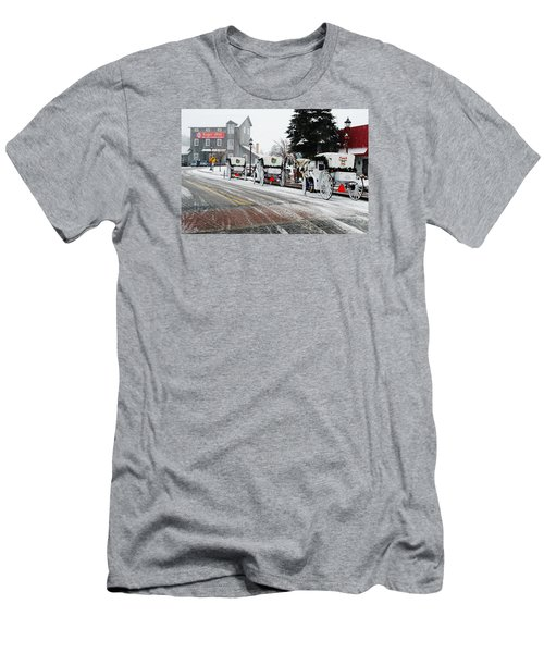 Carriage Ride Men's T-Shirt (Slim Fit) by Janice Adomeit