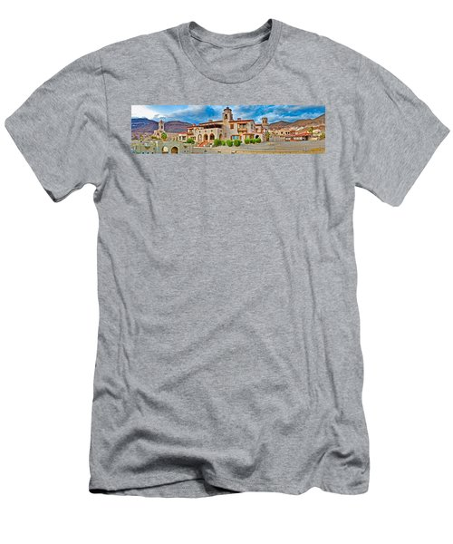 Castle In A Desert, Scottys Castle Men's T-Shirt (Slim Fit) by Panoramic Images