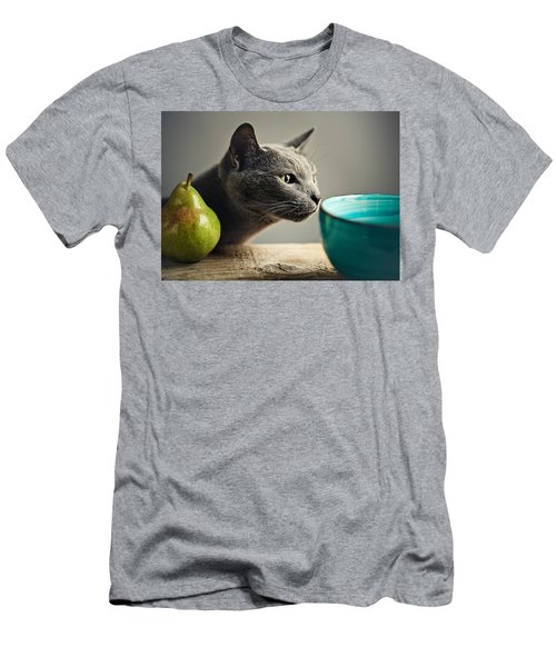 Cat And Pears Men's T-Shirt (Athletic Fit)
