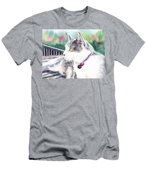 Cat Men's T-Shirt (Slim Fit) by Irina Sztukowski