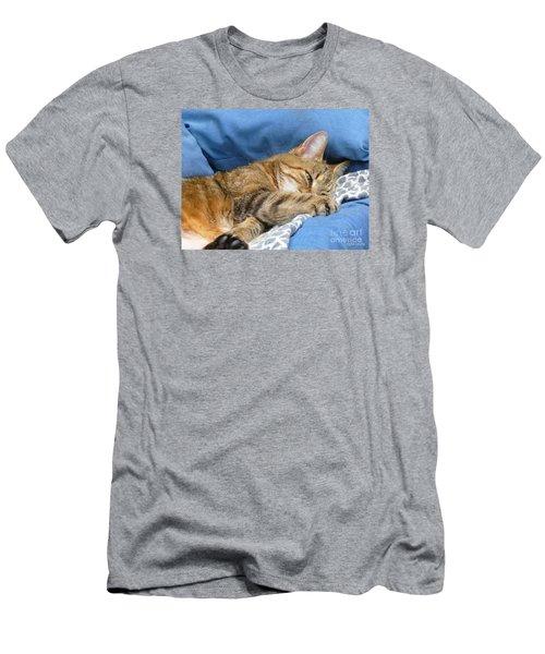 Men's T-Shirt (Slim Fit) featuring the photograph Cat Nap by Lingfai Leung