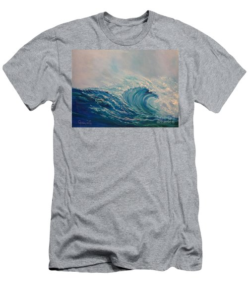 Men's T-Shirt (Slim Fit) featuring the painting Wave 111 by Jenny Lee
