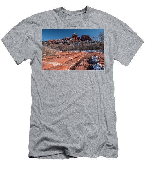 Cathedral Rock Winter Men's T-Shirt (Athletic Fit)