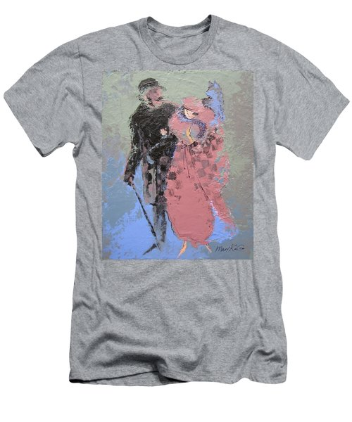 Men's T-Shirt (Slim Fit) featuring the painting Catwalk by Marina Gnetetsky