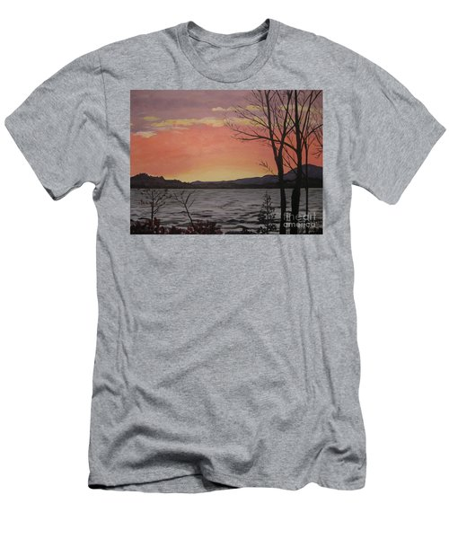 Caucomgomoc Lake Sunset In Maine Men's T-Shirt (Athletic Fit)