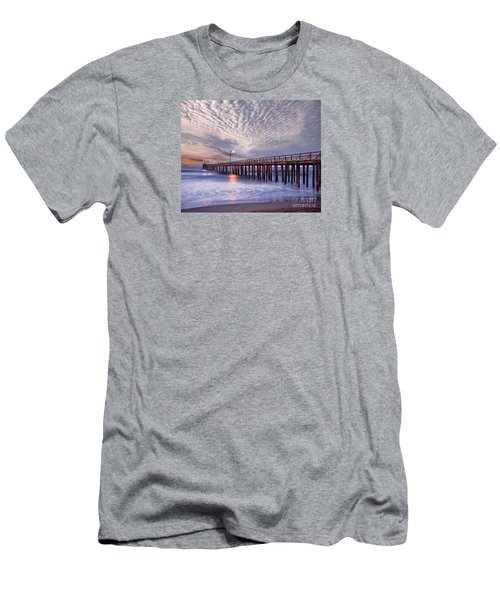 Cayucos Pier Men's T-Shirt (Slim Fit) by Alice Cahill