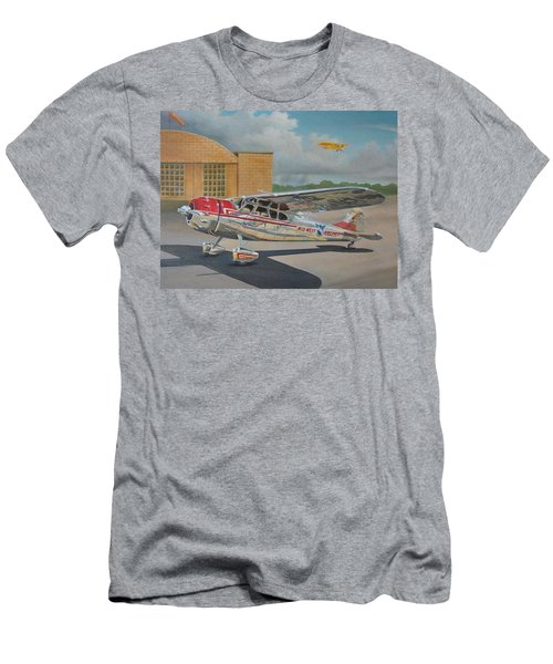Cessna 195 Men's T-Shirt (Slim Fit) by Stuart Swartz