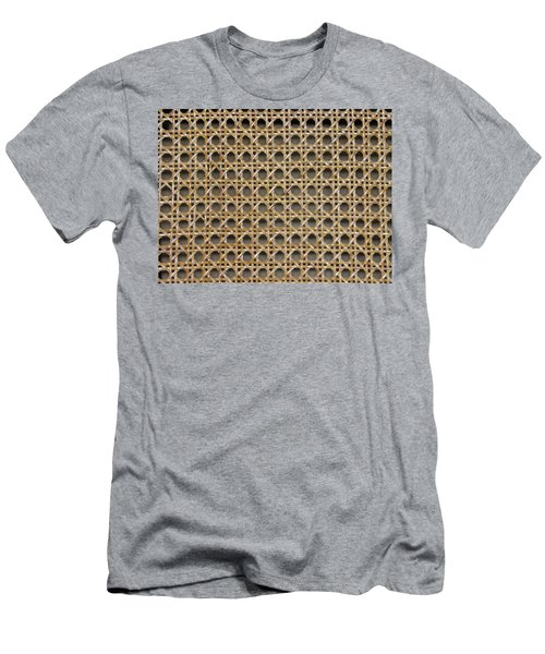 Men's T-Shirt (Slim Fit) featuring the photograph Chair Caning  by Sherman Perry