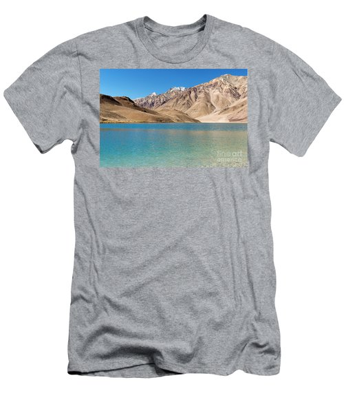 Chandratal Lake Men's T-Shirt (Slim Fit) by Yew Kwang