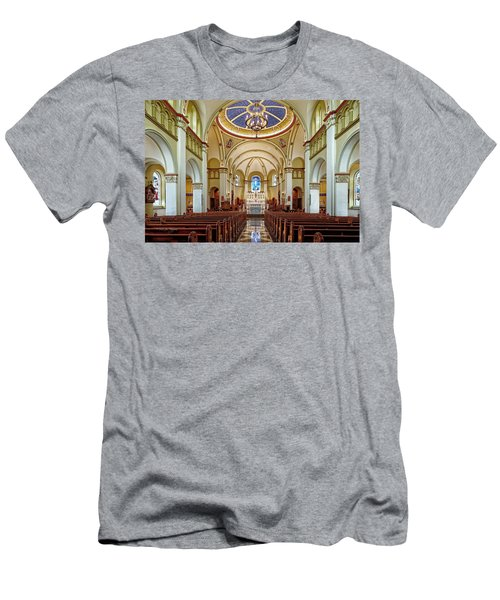 Men's T-Shirt (Slim Fit) featuring the photograph Chapel Of The Immaculate Conception by Jim Thompson