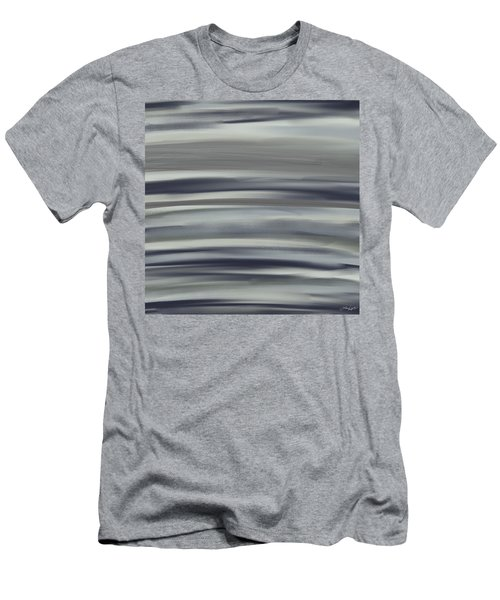 Charcoal And Blue Men's T-Shirt (Athletic Fit)