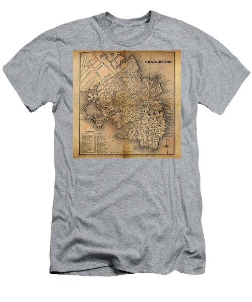 Charleston Vintage Map No. I Men's T-Shirt (Slim Fit) by James Christopher Hill